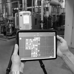 Point Cloud Scan on iPad in mechanical room